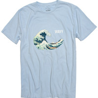 Wavy Hokusai powder blue tee by Altru Apparel