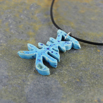 Japanese Symbol for Beauty - Handmade Ceramic Necklace - Zen Jewelry
