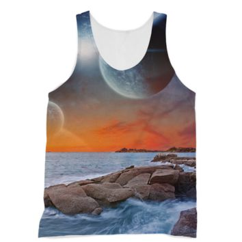 Earth in the Galaxy from a Beach American Apparel Sublimation Vest