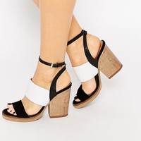 New Look | New Look Premium Color Block Sandal at ASOS