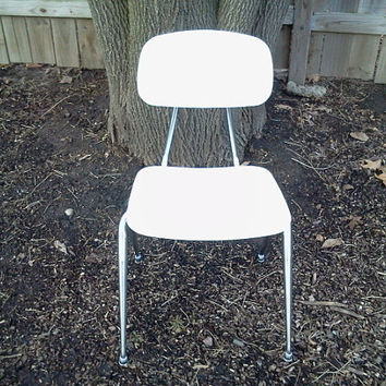Sale, Vintage, Metal, Art Deco, Mid Century,  Retro Desk Chair Chair