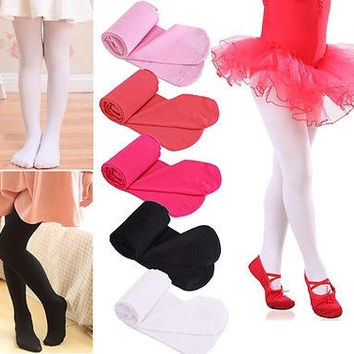 New Baby Girls Kids Leggings Children Socks Tights Soft Pantyhose Size 4-9 Years = 1946609476