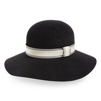 Women's rag & bone Broad Brim Portrait Hat - Black
