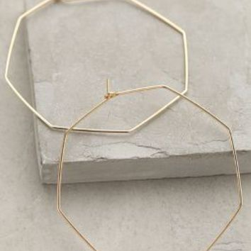 Hexagon Hoops by Anthropologie