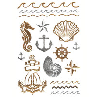 Anchor/Shell Metallic Tattoos | Hair & Skin