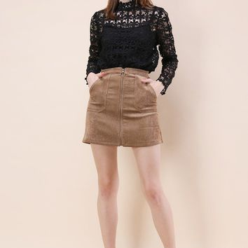 Fashion Devotion Bud Skirt in Tan