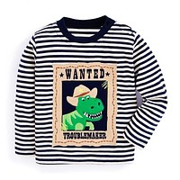 Baby Boys Tops Children T shirts Autumn T-shirts Kids Clothes Boys Sweatshirt Striped Tee Shirt Boys Clothing