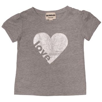 Old Soles Love Is In The Heart T-Shirt Grey Marl