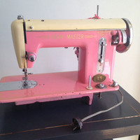pretty in pink vintage sewing machine