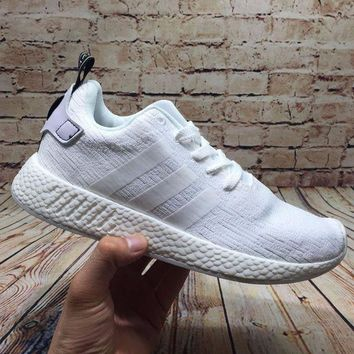 LMFUX5 Adidas NMD R2 White BY9914 Boost Sport Running Shoes Classic Casual Shoes Sneakers