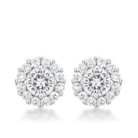 Bella Halo Earrings - White
