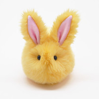 Daffodil the Fluffy Yellow Bunny Rabbit Stuffed Toy Plushie Animal - 5x8 Inches Medium