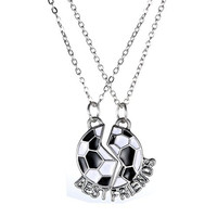 Rinhoo Jewelry Soccer Team Number Best Friend Necklace