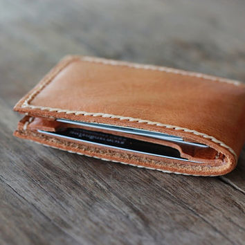 Leather Wallet - Honey Brown - 002 - JooJoobs URBANRUSTIC Collection
