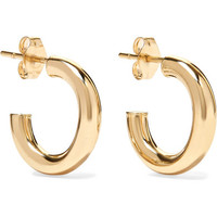 Loren Stewart - Chubbie Huggies 10-karat gold hoop earrings