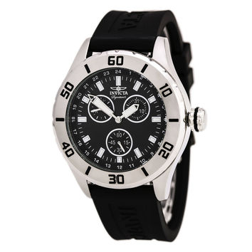 Invicta 7054 Men's Signature II Black Dial Black Rubber Strap Watch