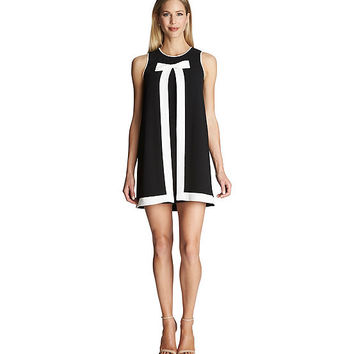 CeCe by Cynthia Steffe Contrast Bow A-Line Dress | Dillards