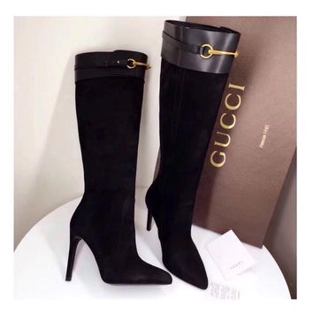 GUCCI High boots fine and sharp women boots-1