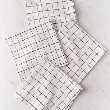Wonky Grid Napkin Set | Urban Outfitters