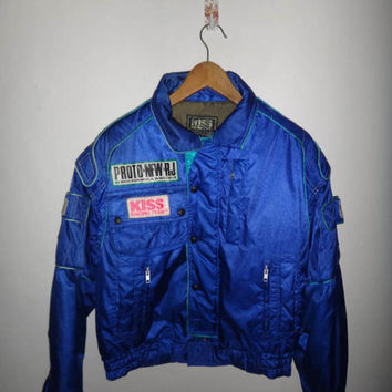 Vintage KISS Racing Team Motorcycle Car Jacket