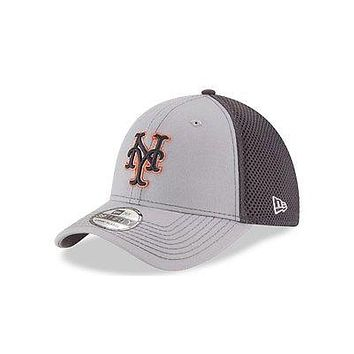 New York Mets New Era Neo 39THIRTY Stretch Fit Flex Mesh Back Cap Hat 3930