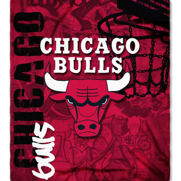 Chicago Bulls 50x60 Fleece Blanket - Hard Knock Design