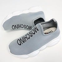 Moschino Girls Boys Children Baby Toddler Kids Child Fashion Casual Sneakers Sport Shoes