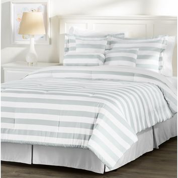 Wayfair Basics 7 Piece Striped Comforter Set
