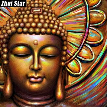 "Zhui Star Full Square Diamond 5D DIY Diamond Painting Photo Custom ""religion Buddha"" 3D Embroidery Cross Stitch Mosaic Decor VIP"