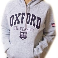 Oxford University Hoodie | Grey | Unisex | London Souvenirs & Gifts (L)