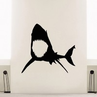 Wall Decal Vinyl Sticker Animal Predator Shark Sea Ocean Decor Sb472