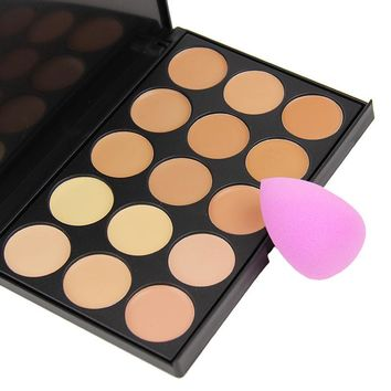 Brightly Makeup Palette Women 15 Colors Concealer Tone Base Makeup Maquiagem Skin Color Cover Foundation Contour Face Cream PMP