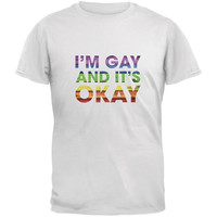 LGBT Gay Pride It's Okay I'm Gay Generic White Adult T-Shirt