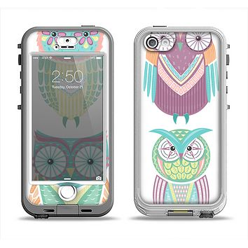 The Crazy Cartoon Owls Apple iPhone 5-5s LifeProof Nuud Case Skin Set