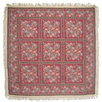 """DaDa Bedding Field of Roses Floral Red Square Tapestry Table Cloth - 60"""" x 60"""" (5594)"""
