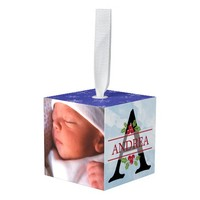 Baby's First Christmas Block Ornament