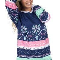 Lauren James: Julep Christmas Sweater Tee {Navy}