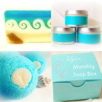Monthly Bath & Body Gift Box, Soap Box, Mystery Box, Monthly Gift Subscription, Monthly Sampler Subscription Box