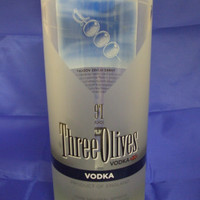 25 oz. Pure Soy Candle in Reclaimed Three Olives Vodka Bottle - Your Choice of Scent