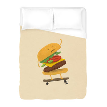 Burger Wipe Out Duvet Cover