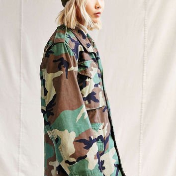 Urban Renewal Vintage Lined Camo Jacket - Urban Outfitters