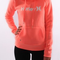 Hurley - One & Only Pop Fleece Bright Mango White - Womens