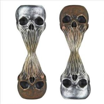 Liquid Death Skull Statues: Set Of 2 - Design Toscano