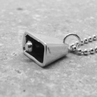 Cowbell Necklace, Sterling Silver