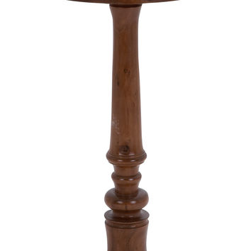 Sturdy Construction Wooden Round Shaped Pedestal Table