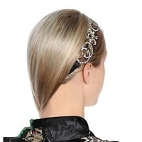 GUCCI Stylish Women Simple Chain Silks Letter Diamond Headwrap Headband Head Hair Band Necklace Accessories