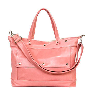 Archive Bag in Blush Rose Pink Leather - Made to Order
