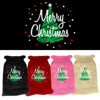 Mirage - Scribbled Merry Christmas Knit Dog Sweaters