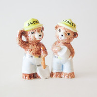 NORCREST Smokey the Bear Salt and Pepper Shakers