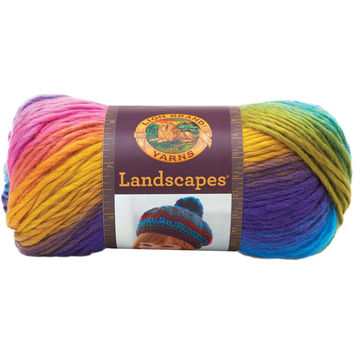 Lion Brand Landscapes Self Striping Yarn in Boardwalk